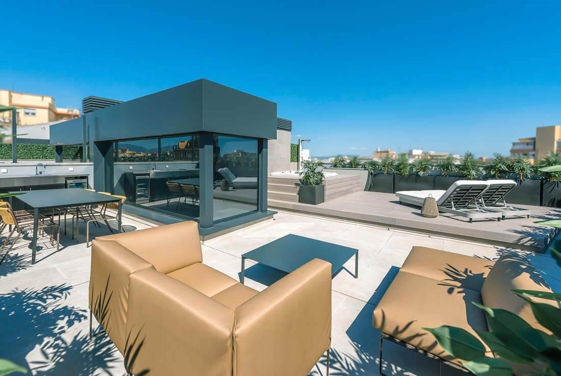 Lujoso ático con terrazas en Palma